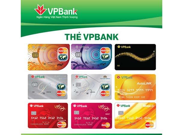 Các loại thẻ tín dụng VPBank